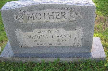 VANN, MARTHA I. - Sebastian County, Arkansas | MARTHA I. VANN - Arkansas Gravestone Photos