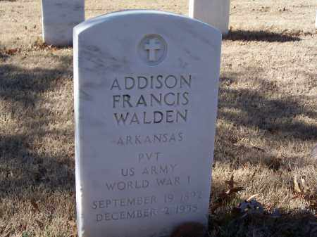 WALDEN (VETERAN WWI), ADDISON FRANCIS - Sebastian County, Arkansas | ADDISON FRANCIS WALDEN (VETERAN WWI) - Arkansas Gravestone Photos