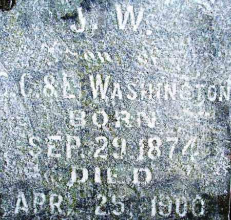 WASHINGTON, J. W. - Sebastian County, Arkansas | J. W. WASHINGTON - Arkansas Gravestone Photos