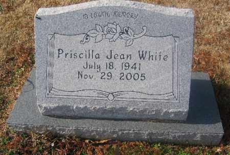 WHITE, PRISCILLA JEAN - Sebastian County, Arkansas | PRISCILLA JEAN WHITE - Arkansas Gravestone Photos