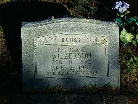 WILKERSON, THURSA G - Sebastian County, Arkansas | THURSA G WILKERSON - Arkansas Gravestone Photos