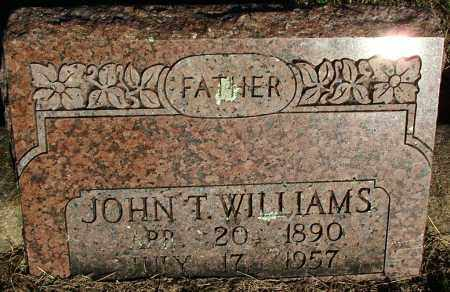 WILLIAMS, JOHN T. - Sebastian County, Arkansas | JOHN T. WILLIAMS - Arkansas Gravestone Photos
