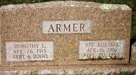 ARMER, REV, RUSSELL - Sevier County, Arkansas | RUSSELL ARMER, REV - Arkansas Gravestone Photos