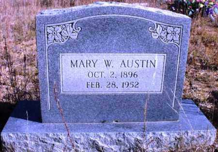 AUSTIN, MARY W - Sevier County, Arkansas | MARY W AUSTIN - Arkansas Gravestone Photos