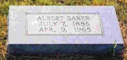 BAKER, ALBERT - Sevier County, Arkansas | ALBERT BAKER - Arkansas Gravestone Photos