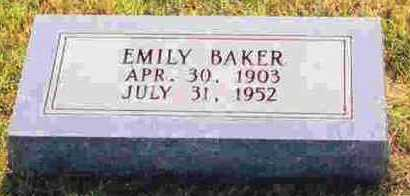 BRATCHER BAKER, EMILY - Sevier County, Arkansas | EMILY BRATCHER BAKER - Arkansas Gravestone Photos