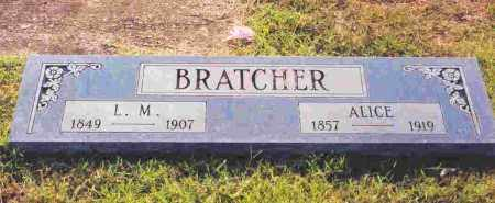 BRATCHER, LAWSON MONROE - Sevier County, Arkansas | LAWSON MONROE BRATCHER - Arkansas Gravestone Photos