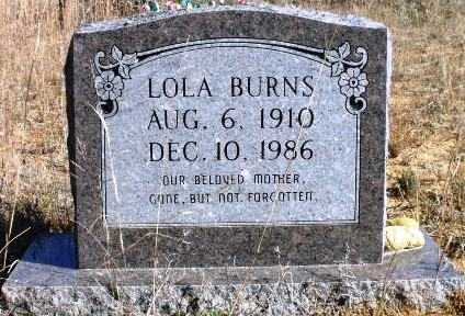 BURNS, LOLA - Sevier County, Arkansas | LOLA BURNS - Arkansas Gravestone Photos