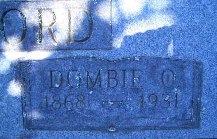 CRAWFORD, DOMBIE O (CLOSEUP) - Sevier County, Arkansas | DOMBIE O (CLOSEUP) CRAWFORD - Arkansas Gravestone Photos