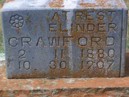 CRAWFORD, ELINDER - Sevier County, Arkansas | ELINDER CRAWFORD - Arkansas Gravestone Photos