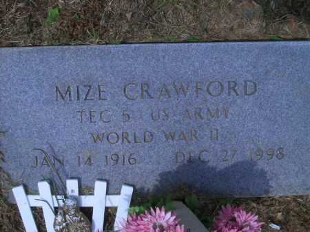 CRAWFORD (VETERAN WWII), MIZE - Sevier County, Arkansas | MIZE CRAWFORD (VETERAN WWII) - Arkansas Gravestone Photos