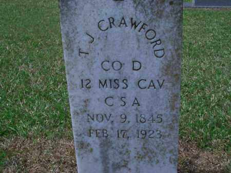 CRAWFORD (VETERAN CSA), T  J - Sevier County, Arkansas | T  J CRAWFORD (VETERAN CSA) - Arkansas Gravestone Photos