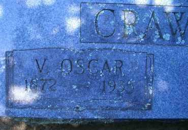 CRAWFORD, V OSCAR (CLOSEUP) - Sevier County, Arkansas | V OSCAR (CLOSEUP) CRAWFORD - Arkansas Gravestone Photos