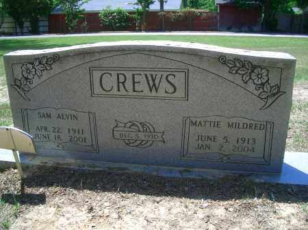 CREWS, SAM ALVIN - Sevier County, Arkansas | SAM ALVIN CREWS - Arkansas Gravestone Photos