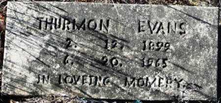 EVANS, THURMON - Sevier County, Arkansas | THURMON EVANS - Arkansas Gravestone Photos