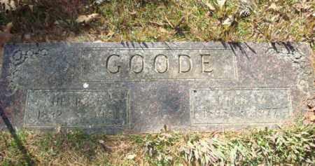 GOODE, HENRY FULTON - Sevier County, Arkansas | HENRY FULTON GOODE - Arkansas Gravestone Photos