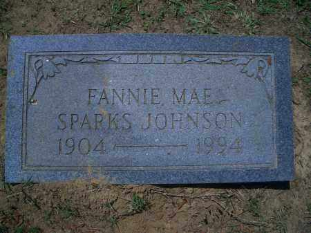 SPARKS JOHNSON, FANNIE MAE - Sevier County, Arkansas | FANNIE MAE SPARKS JOHNSON - Arkansas Gravestone Photos