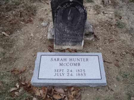 HUNTER MCCOMB, SARAH JANE - Sevier County, Arkansas | SARAH JANE HUNTER MCCOMB - Arkansas Gravestone Photos