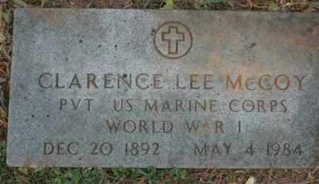 MCCOY (VETERAN WWI), CLARENCE LEE - Sevier County, Arkansas | CLARENCE LEE MCCOY (VETERAN WWI) - Arkansas Gravestone Photos