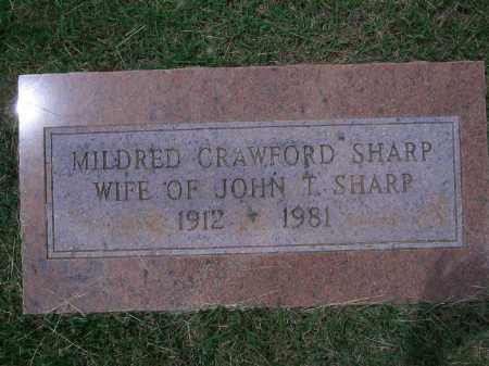 CRAWFORD SHARP, MILDRED - Sevier County, Arkansas | MILDRED CRAWFORD SHARP - Arkansas Gravestone Photos