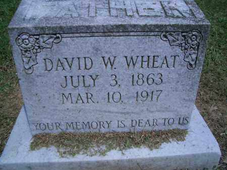 WHEAT, DAVID W. - Sevier County, Arkansas | DAVID W. WHEAT - Arkansas Gravestone Photos