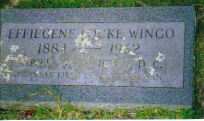 LOCKE WINGO, EFFIEGENE - Sevier County, Arkansas | EFFIEGENE LOCKE WINGO - Arkansas Gravestone Photos