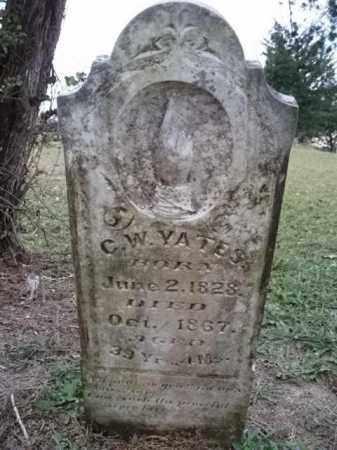 YATES  (VETERAN CSA), CHARLES WESLEY - Sevier County, Arkansas | CHARLES WESLEY YATES  (VETERAN CSA) - Arkansas Gravestone Photos