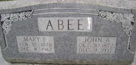 ABEE, JOHN A - Sharp County, Arkansas | JOHN A ABEE - Arkansas Gravestone Photos