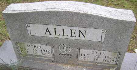 ALLEN, MYRID - Sharp County, Arkansas | MYRID ALLEN - Arkansas Gravestone Photos