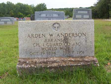 ANDERSON (VETERAN WWI), ARDEN WINFORD - Sharp County, Arkansas | ARDEN WINFORD ANDERSON (VETERAN WWI) - Arkansas Gravestone Photos