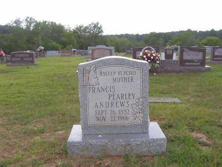 ANDREWS, FRANCIS PEARLEY - Sharp County, Arkansas | FRANCIS PEARLEY ANDREWS - Arkansas Gravestone Photos