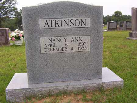 ATKINSON, NANCY ANN - Sharp County, Arkansas | NANCY ANN ATKINSON - Arkansas Gravestone Photos
