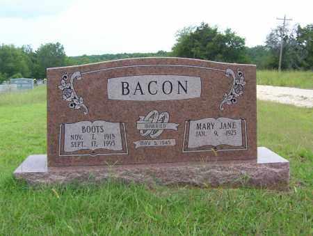 BACON, BOOTS - Sharp County, Arkansas | BOOTS BACON - Arkansas Gravestone Photos