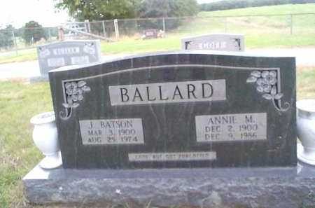 BALLARD, ANNIE M. - Sharp County, Arkansas | ANNIE M. BALLARD - Arkansas Gravestone Photos