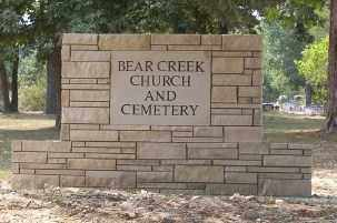 * BEAR CREEK CEMETERY SIGN,  - Sharp County, Arkansas |  * BEAR CREEK CEMETERY SIGN - Arkansas Gravestone Photos