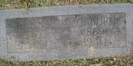 BLACKBURN, HANNA - Sharp County, Arkansas | HANNA BLACKBURN - Arkansas Gravestone Photos