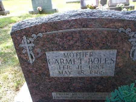 BOLES, CARMET - Sharp County, Arkansas | CARMET BOLES - Arkansas Gravestone Photos