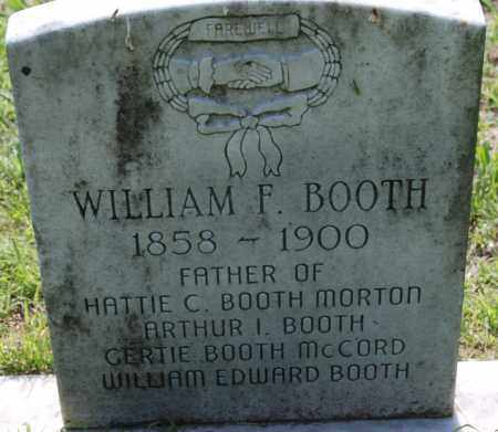 BOOTH, WILLIAM F - Sharp County, Arkansas | WILLIAM F BOOTH - Arkansas Gravestone Photos