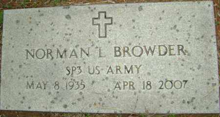 BROWDER (VETERAN), NORMAN L - Sharp County, Arkansas | NORMAN L BROWDER (VETERAN) - Arkansas Gravestone Photos