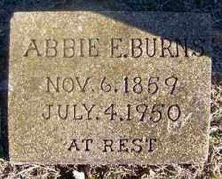 BURNS, ABBIE E - Sharp County, Arkansas   ABBIE E BURNS - Arkansas Gravestone Photos
