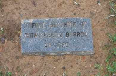 BURROW, INFANT DAUGHTER - Sharp County, Arkansas | INFANT DAUGHTER BURROW - Arkansas Gravestone Photos