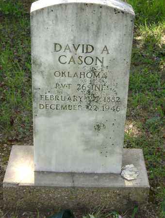 CASON (VETERAN WWI), DAVID ARTHUR - Sharp County, Arkansas | DAVID ARTHUR CASON (VETERAN WWI) - Arkansas Gravestone Photos