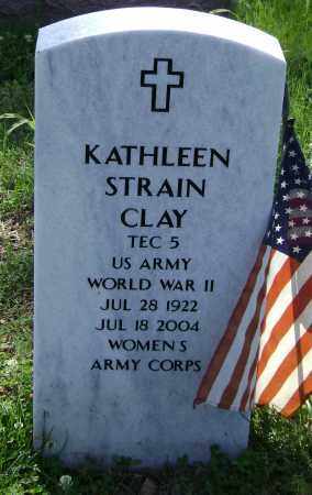 STRAIN CLAY (VETERAN WWII), KATHLEEN - Sharp County, Arkansas | KATHLEEN STRAIN CLAY (VETERAN WWII) - Arkansas Gravestone Photos