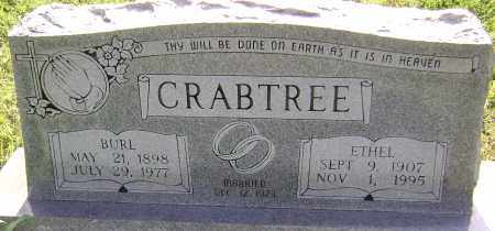 CRABTREE, BURL - Sharp County, Arkansas | BURL CRABTREE - Arkansas Gravestone Photos