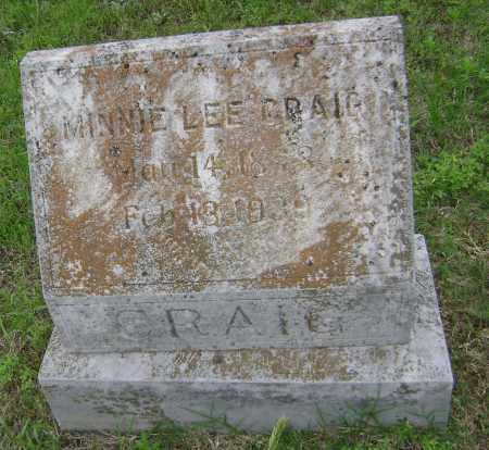 CRAIG, MINNIE LEE - Sharp County, Arkansas | MINNIE LEE CRAIG - Arkansas Gravestone Photos