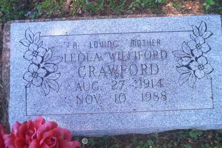 WILLIFORD CRAWFORD, LEOLA - Sharp County, Arkansas | LEOLA WILLIFORD CRAWFORD - Arkansas Gravestone Photos