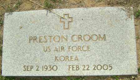 CROOM (VETERAN KOR), PRESTON - Sharp County, Arkansas | PRESTON CROOM (VETERAN KOR) - Arkansas Gravestone Photos