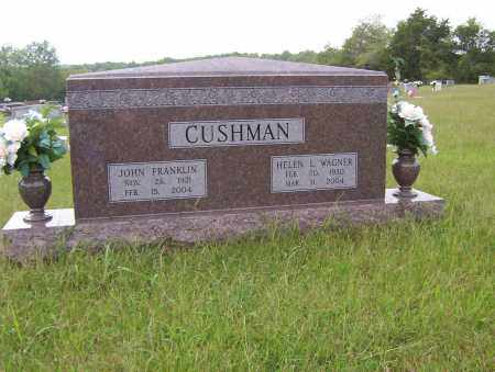 CUSHMAN, JOHN FRANKLIN - Sharp County, Arkansas | JOHN FRANKLIN CUSHMAN - Arkansas Gravestone Photos