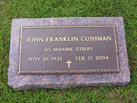 CUSHMAN (VETERAN), JOHN FRANKLIN - Sharp County, Arkansas | JOHN FRANKLIN CUSHMAN (VETERAN) - Arkansas Gravestone Photos