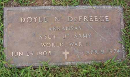 DEFREECE (VETERAN WWII), DOYLE NOLAN - Sharp County, Arkansas | DOYLE NOLAN DEFREECE (VETERAN WWII) - Arkansas Gravestone Photos
